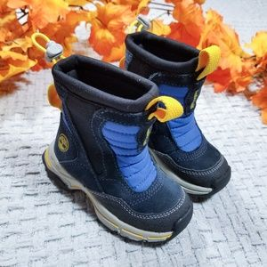Timberland toddler blue suede leather snow boots
